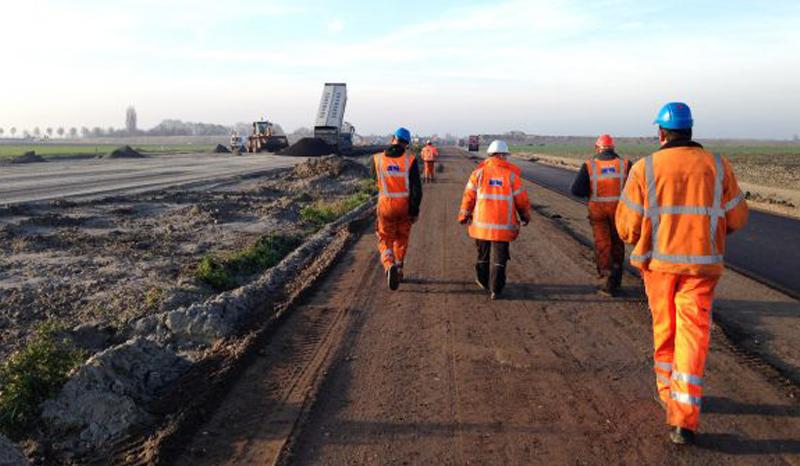 NA-Infra wegenbouwpersoneel personeel